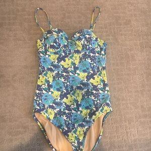 Jcrew floral swimsuit